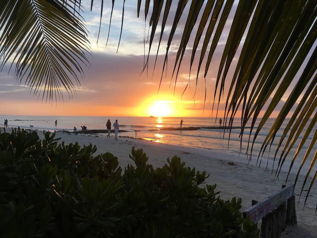coucher de soleil isla holbox